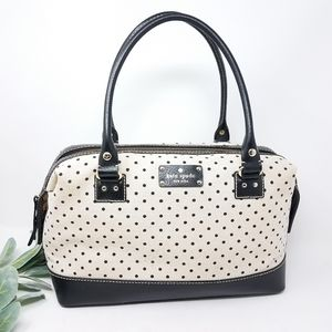 KATE SPADE Cream and Black Dot Shoulder Bag